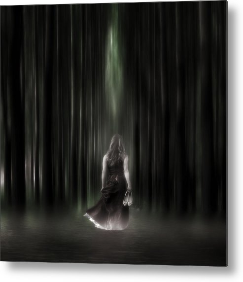 Woman Metal Print featuring the photograph The Forest by Joana Kruse