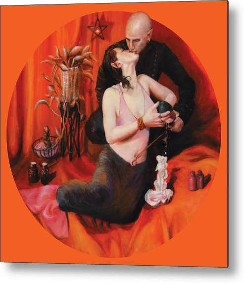 Shelley Irish Metal Print featuring the painting The Lovers by Shelley Irish