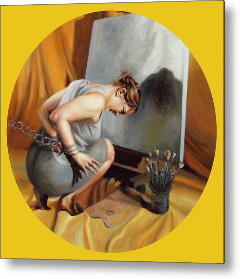 Shelley Irish Metal Print featuring the painting The Restricted by Shelley Irish