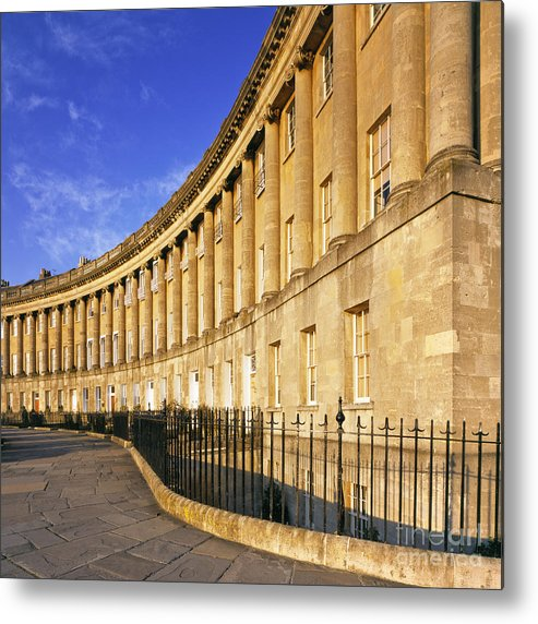 Bath Metal Print featuring the photograph The Royal Crescent Bath by Derek Croucher