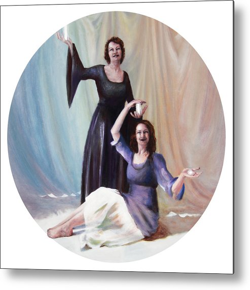 Shelley Irish Metal Print featuring the painting The Source by Shelley Irish