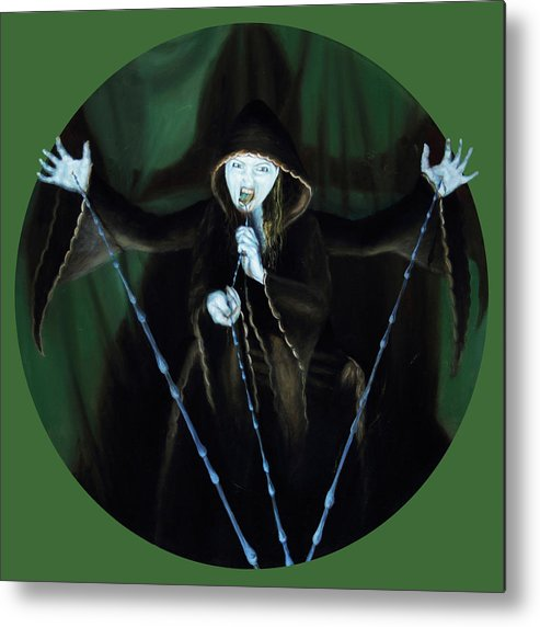 Shelley Irish Metal Print featuring the painting The Taker by Shelley Irish