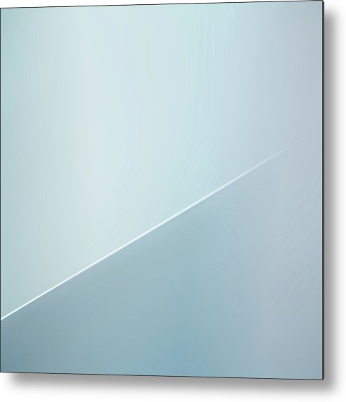 Abstract Metal Print featuring the photograph The White Line by Gilbert Claes
