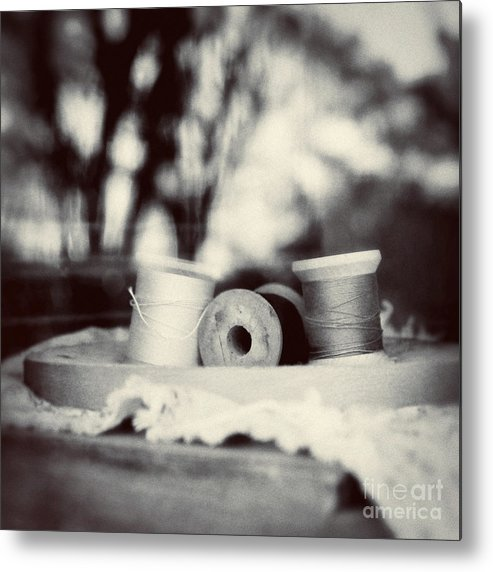 Sewing Metal Print featuring the photograph Threads Of Life by Trish Mistric