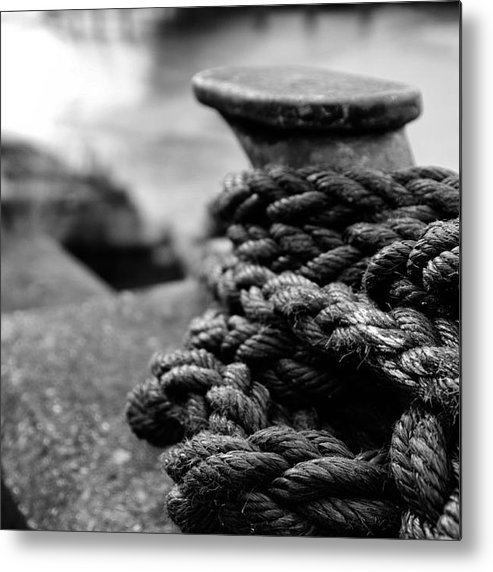 River Hull Metal Print featuring the photograph Tied Up by John Sprague