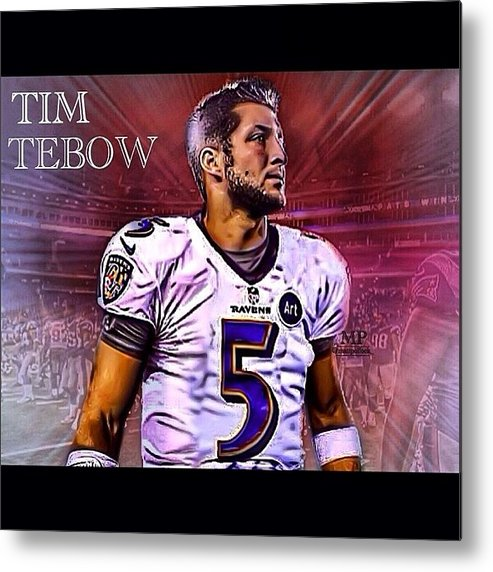info for 6062d 76207 Tim Tebow Jersey Swap! Let Me Know Metal Print