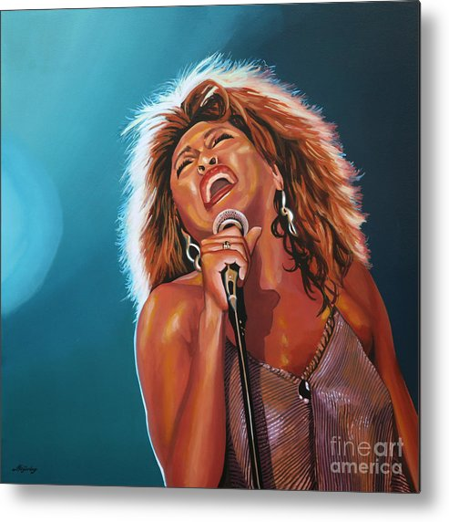 Tina Turner Metal Print featuring the painting Tina Turner 3 by Paul Meijering