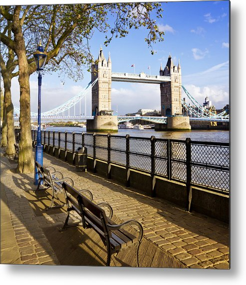 British Metal Print featuring the photograph Tower Bridge London by Melanie Viola