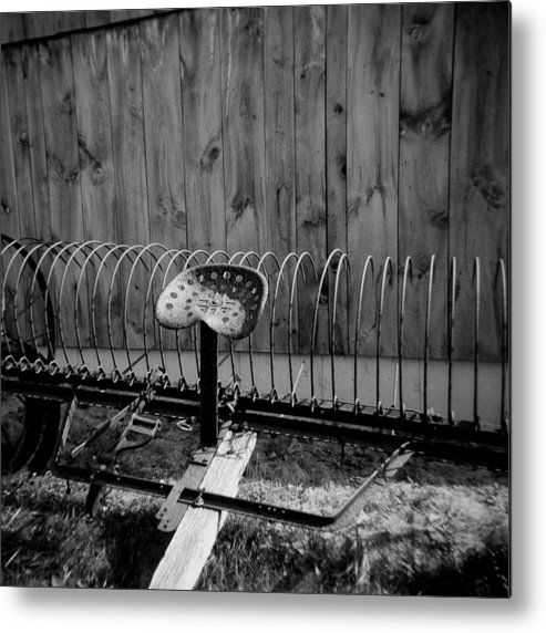 Farm Metal Print featuring the photograph Tractor Seat by Toby Papageorge