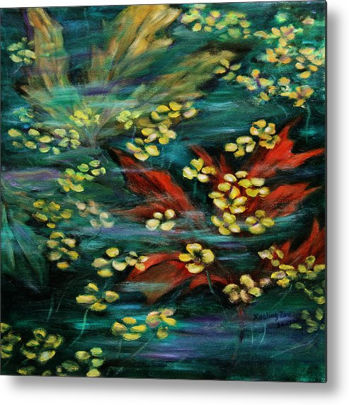 Nature Metal Print featuring the painting Transforming... by Xueling Zou
