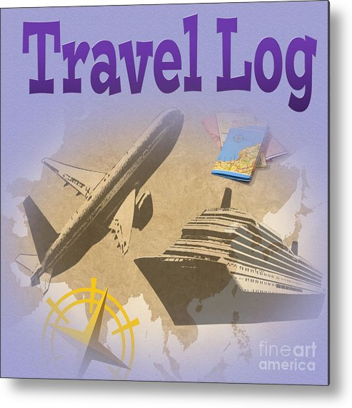 Travel Log Metal Print featuring the photograph Travel Log by Tina M Wenger