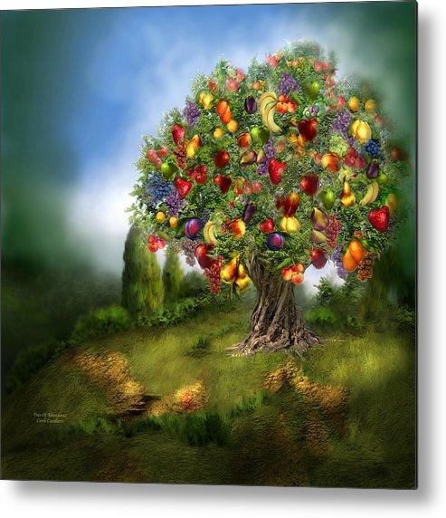Tree Metal Print featuring the mixed media Tree Of Abundance by Carol Cavalaris