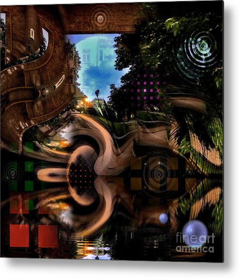 Architecture Metal Print featuring the digital art Unknown City by Aleksandr Mikushev