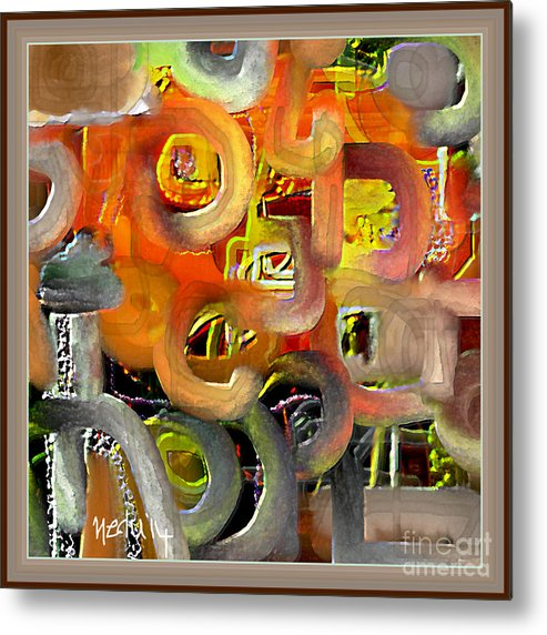 Fine Art Metal Print featuring the painting Untitled 405 by Nedunseralathan R