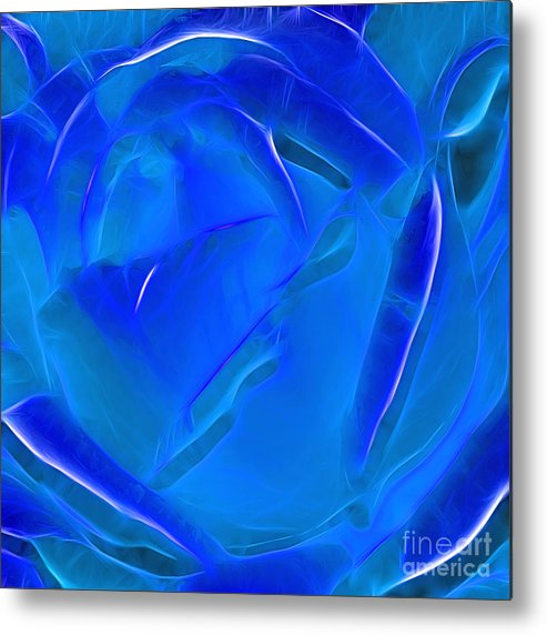 Photography Metal Print featuring the photograph Veil Of Blue by Kaye Menner