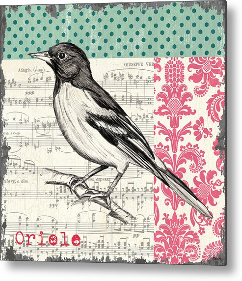 Bird Metal Print featuring the painting Vintage Songbird 2 by Debbie DeWitt