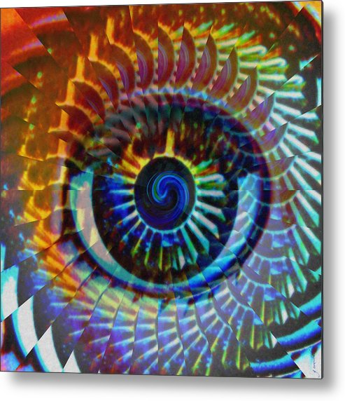 Abstract Metal Print featuring the photograph Visionary by Gwyn Newcombe