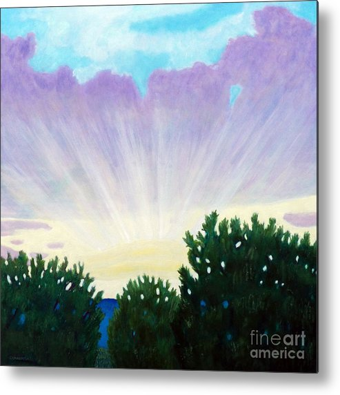 Skyscape Metal Print featuring the painting Visionary Sky by Brian Commerford