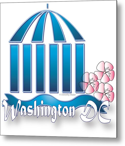 Logo Metal Print featuring the digital art Washington Dc by Dorothy Maier