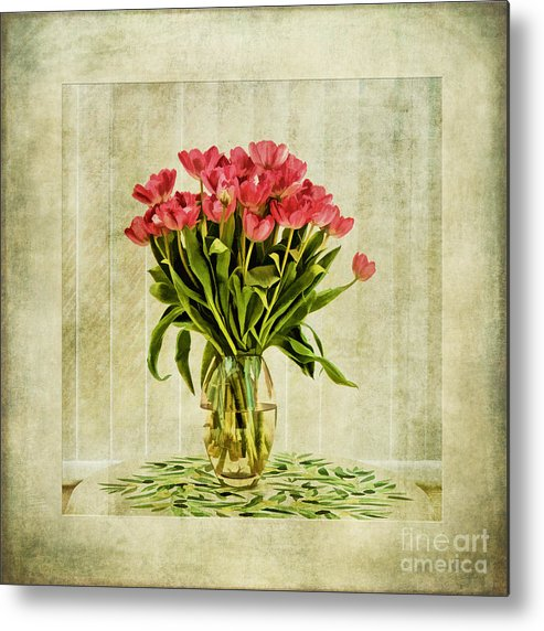 Tulip Painting Metal Print featuring the painting Watercolour Tulips by John Edwards