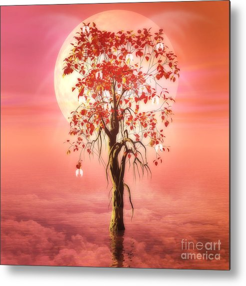 Tree Of Heaven Metal Print featuring the digital art Where Angels Bloom by John Edwards