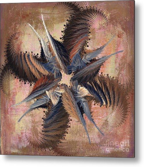 Abstract Metal Print featuring the digital art Winds Of Change by Deborah Benoit