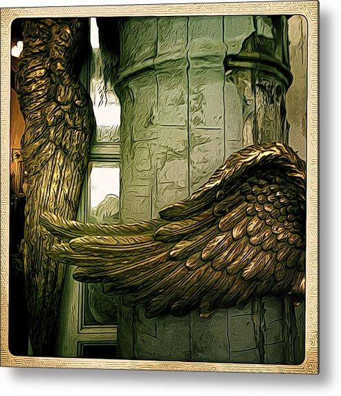Angel Metal Print featuring the digital art Wing It by Jen Brooks Art