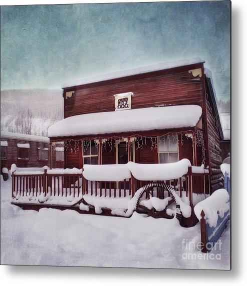 House Metal Print featuring the photograph Winter Sleep by Priska Wettstein