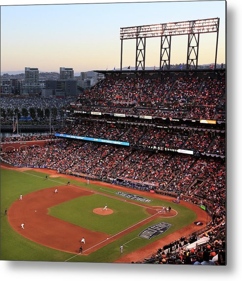 San Francisco Metal Print featuring the photograph World Series - Kansas City Royals V San by Jamie Squire