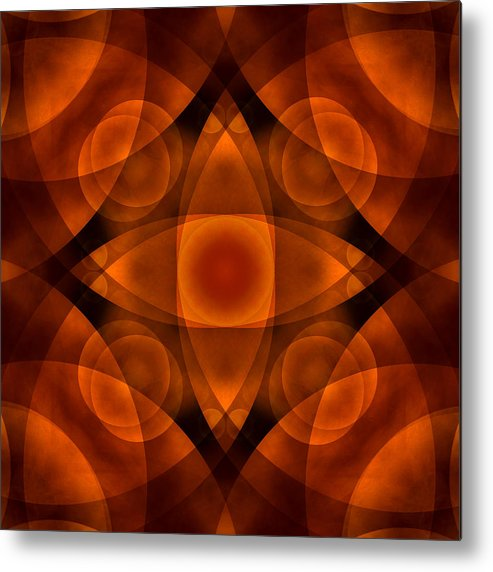 Abstract Metal Print featuring the photograph Worlds Collide 15 by Mike McGlothlen
