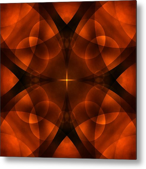 Abstract Metal Print featuring the photograph Worlds Collide 16 by Mike McGlothlen