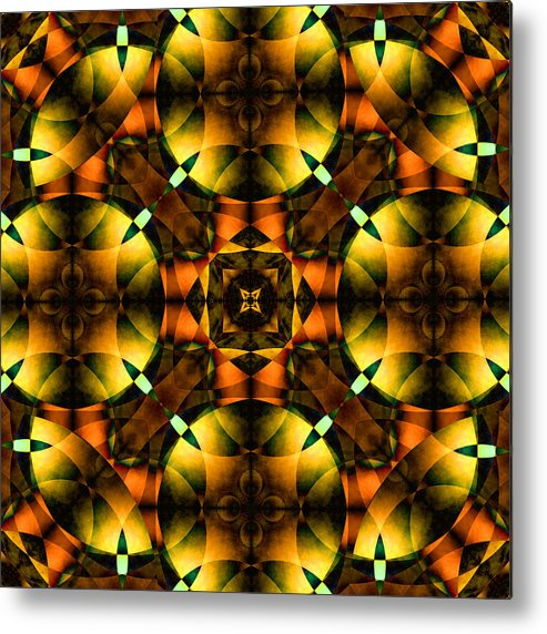 Square Metal Print featuring the digital art Worlds Collide 21 by Mike McGlothlen