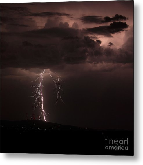 Lightning Metal Print featuring the photograph Zeus - Takes A Walk In The Park by Craig Dykstra