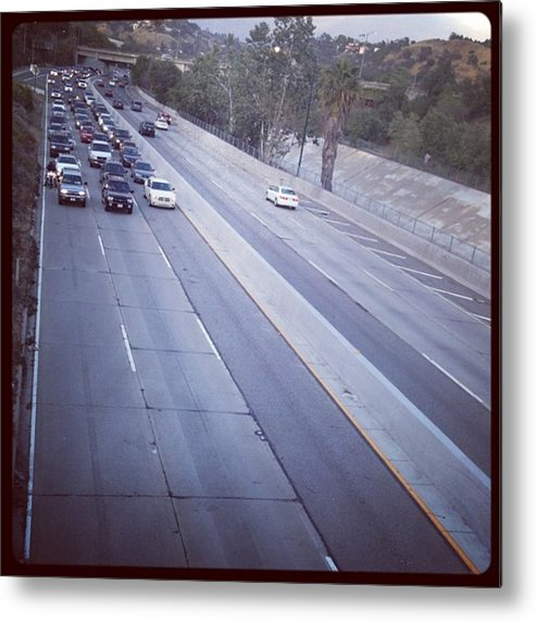 Metal Print featuring the photograph 🚙🚗🚕 Stopped Due To An Accident by Nena Alvarez