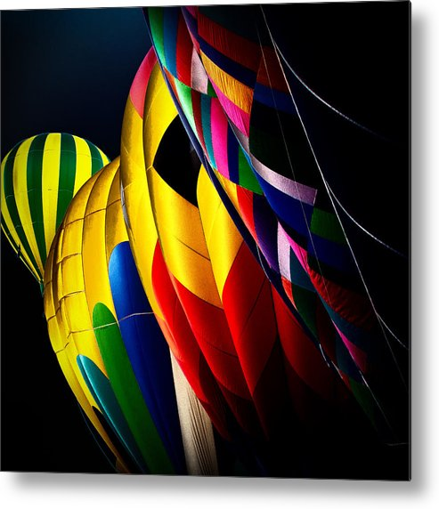 Hot Air Balloons Metal Print featuring the photograph Hot Air Balloons by David Patterson