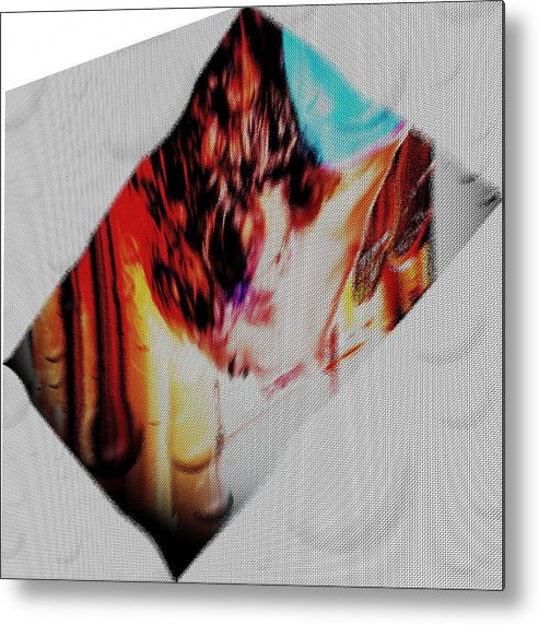 Abstract Metal Print featuring the digital art Mergulho by Beto Machado