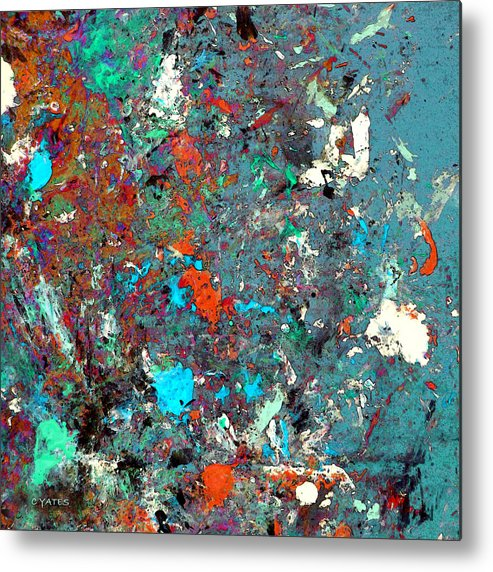 Abstract Metal Print featuring the painting Possibilities by Charles Yates