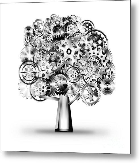 Art Metal Print featuring the photograph Tree Of Industrial by Setsiri Silapasuwanchai