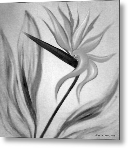 Flowers Metal Print featuring the painting Bird Of Paradise by Gina De Gorna