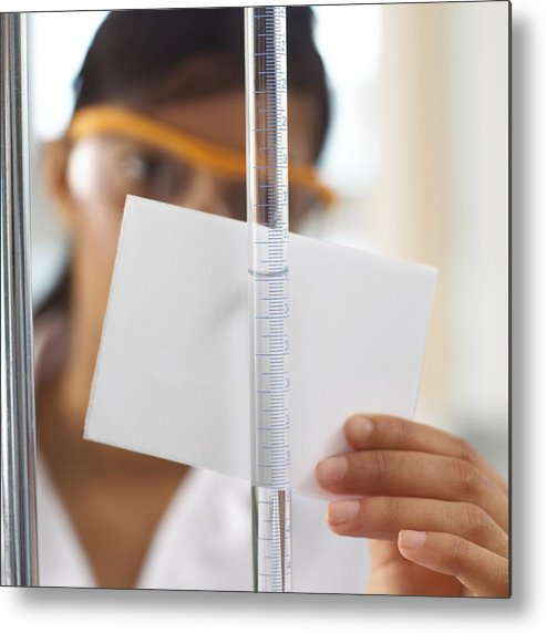 Human Metal Print featuring the photograph Titration Experiment by