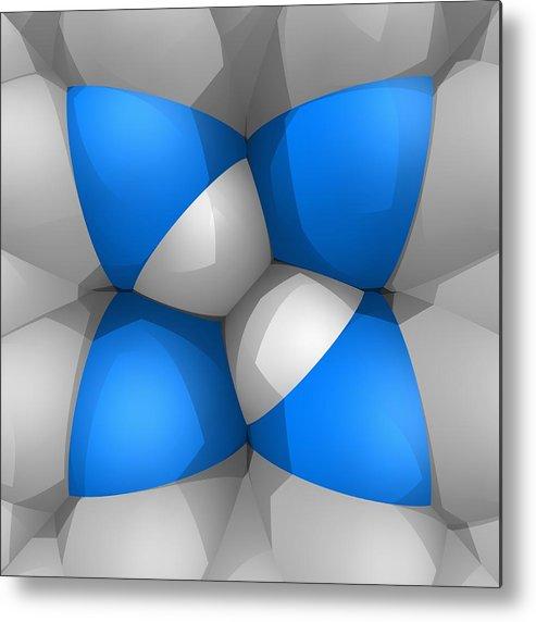 Square Metal Print featuring the digital art Molecular Model by Laguna Design