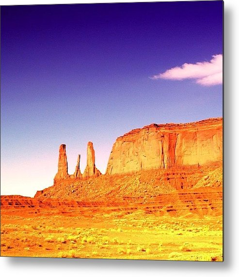 Shotaward Metal Print featuring the photograph Monument Valley by Luisa Azzolini