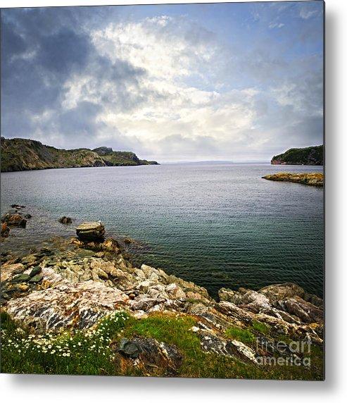 Coast Metal Print featuring the photograph Atlantic Coast In Newfoundland by Elena Elisseeva
