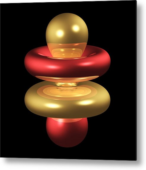 4fz3 Metal Print featuring the photograph 4fz3 Electron Orbital by Dr Mark J. Winter