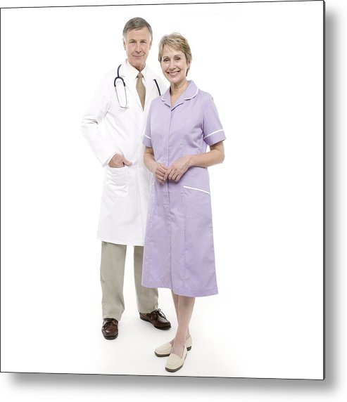 60-64 Years Metal Print featuring the photograph Doctor And Nurse by