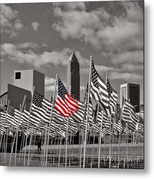 Mobilephotography Metal Print featuring the photograph A Sea Of #flags During #marineweek by Pete Michaud