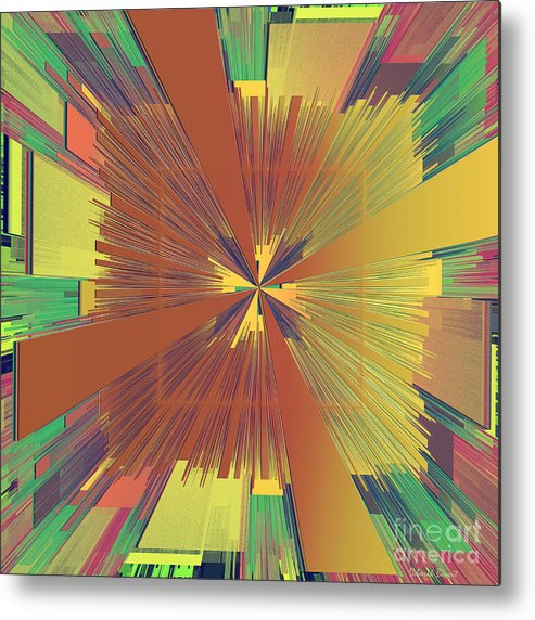 Abstract Metal Print featuring the digital art Abstract 4 by Deborah Benoit