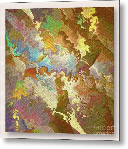 Abstract Metal Print featuring the photograph Abstract Puzzle by Deborah Benoit
