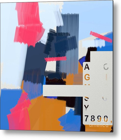 Art Online Metal Print featuring the painting Abstract151 by Nedunseralathan R