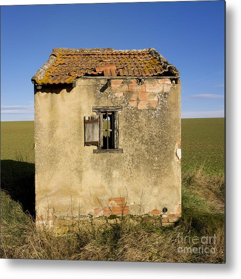 Window Metal Print featuring the photograph Aged Hut In Auvergne. France by Bernard Jaubert